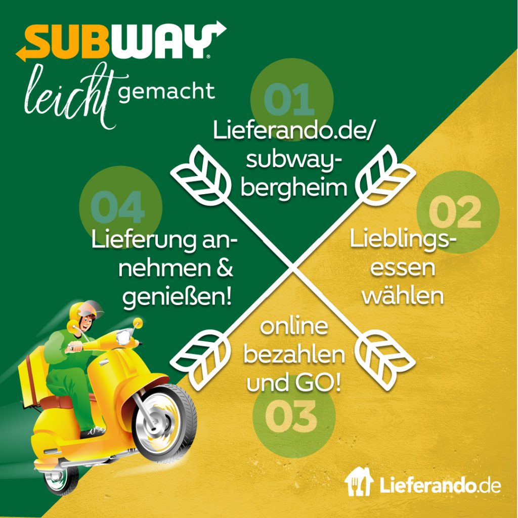 Subway lieferservice Anleitung